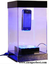 acrylic mobile phone display showcase with LED light