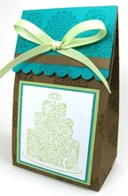 cute invitation silk boxes