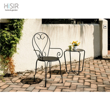 Antiqued steel arts table chair garden furniture outdoor