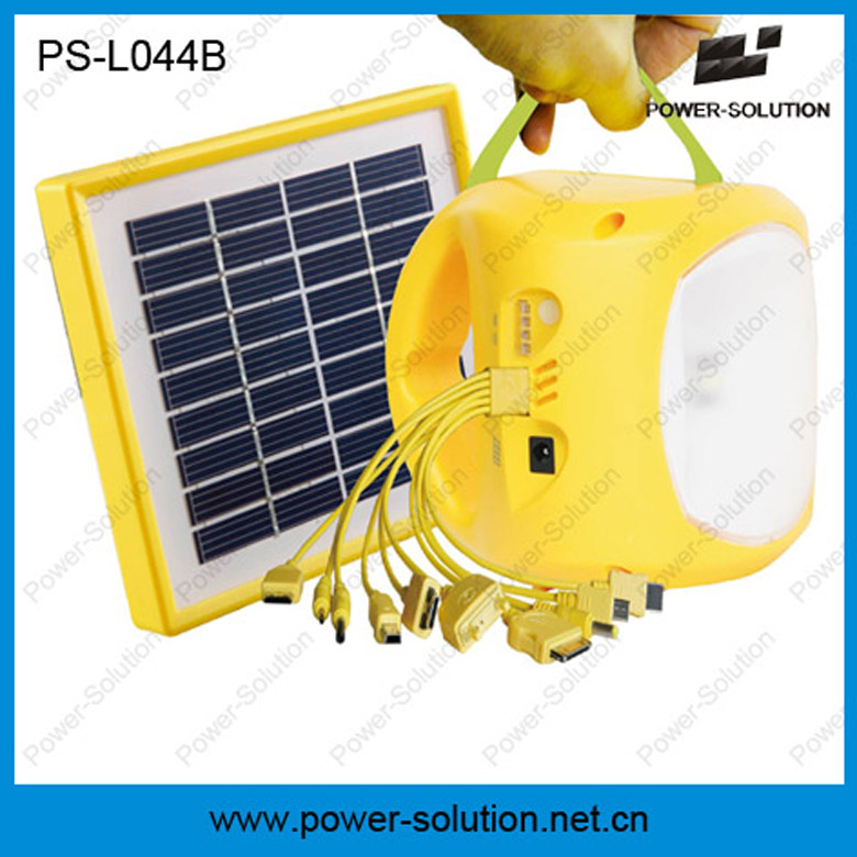 3.5w 9v portable solar lanern 4500mAh battery with USB output phone charger 4brightness setting 5-in-1 mobile adapter