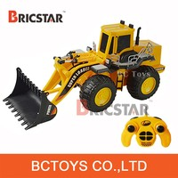 8 CH remote control truck engineering bulldozing construction RC dump truck toy for sale.