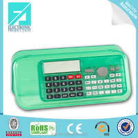 Fupu Transparent PVC Pencil Case, Pen Case, Clear Plastic Pencil Case with calculator