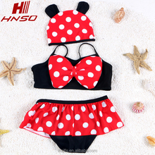 Top quality cute Kids bikini bathing suit baby girls swimwear floral swimsuits