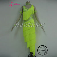 L-12415 Excellent Tailor-Made Fluorescent Green Sexy Adult Costume Sexy Dance Dress Girls Fringe