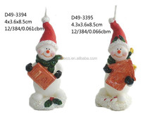 2015 christmas snowman window candle