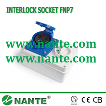 Multi Socket Isolating switch with Interlock 3P, 16A, 32A, IP44