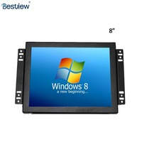 "CGA EGA VGA open frame lcd monitor resistive touch panel 8"" inch high resolution 1024x768"