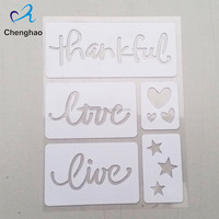 hot sale custom plastic adhesive stencils with alphabet letters