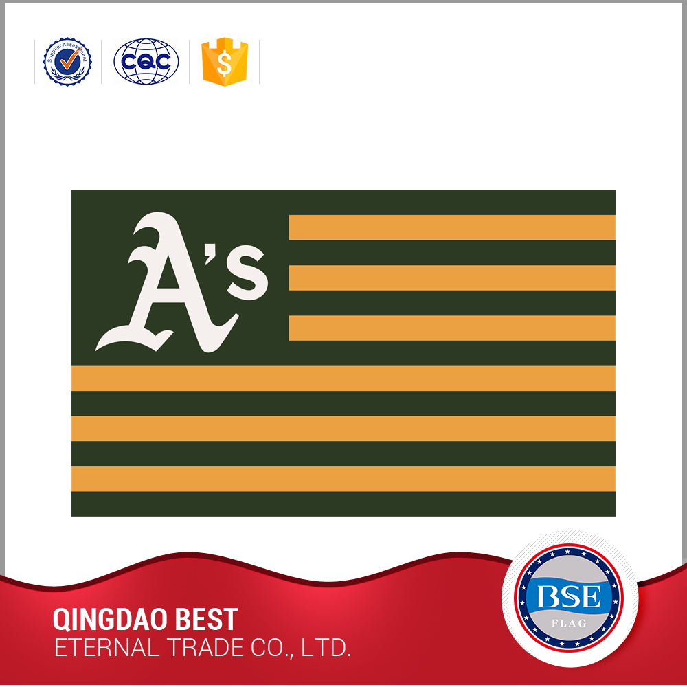 custom design rectangular Oakland Athletics sport flag
