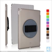 360 rotation case for ipad pro 12.9inch, for ipad pro rotative case cover with hand strap