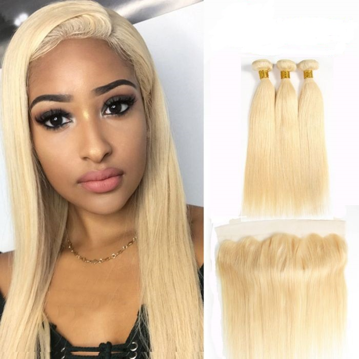 Hot selling Wholesale Blonde 613 virgin <strong>hair</strong> vendor , Russian Brazilian Virgin Human Weave Extensions Blonde <strong>Hair</strong> 613 Bundles