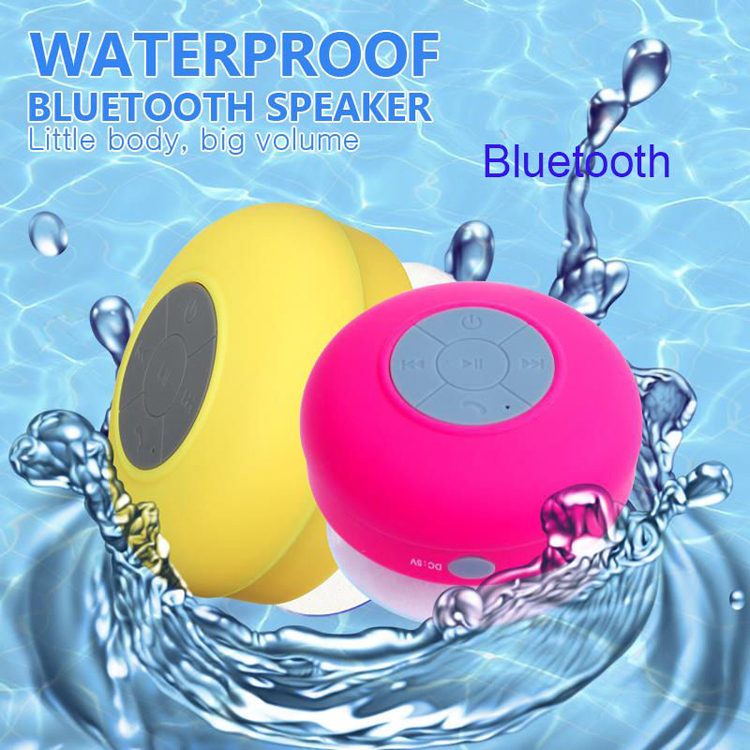 Portable Music Mini Suction Cup Bluetooth Waterproof Speaker