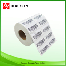 Paper printing roll barcode sticker , easy peel off barcode sticker in roll