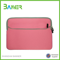 2015 High quality approved laptop sleeve 15.6 black neoprene