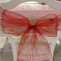 fancy spider mesh lace chair sash for weddings