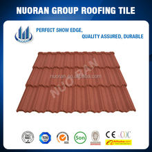china manufacturer nigeria popular monier style natural stone glazed concrete roof tile