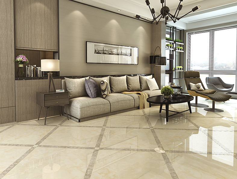 800x800mm Full Polished Glazed Living Room Floor Tile