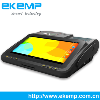 EKEMP Android Biometric NFC POS Terminal with Printer,Smart Card Reader