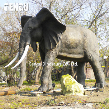 Robotic Animal With Actual Sound Elephant Statue For Sale