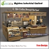 Retail coffee kiosk multi-function sushi bar kiosk design