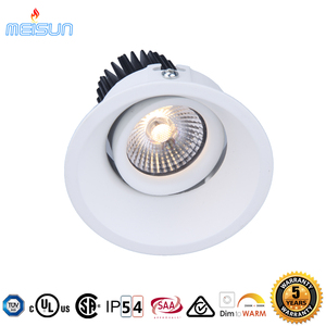 led in Norge gyro Ra97 dim to warm 2000-3000K 7W IP54 led downlight