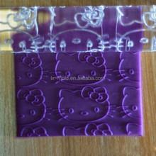 Lovely Kitty sugar embossing Sugar coated knurled rods