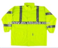 high visibility Safety Raincoat