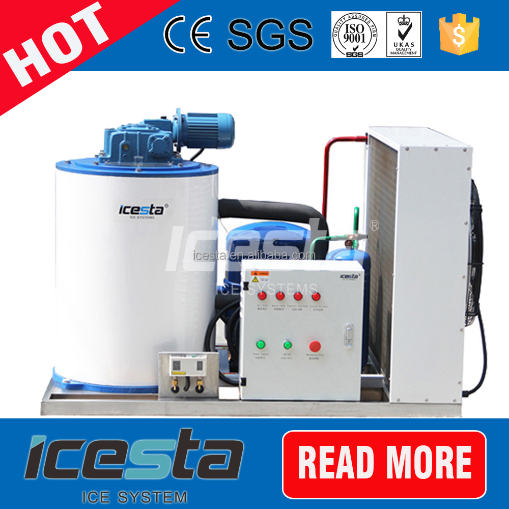 fish/meat/chicken/sausage supermarket aquatic food processing flake ice machine pictures