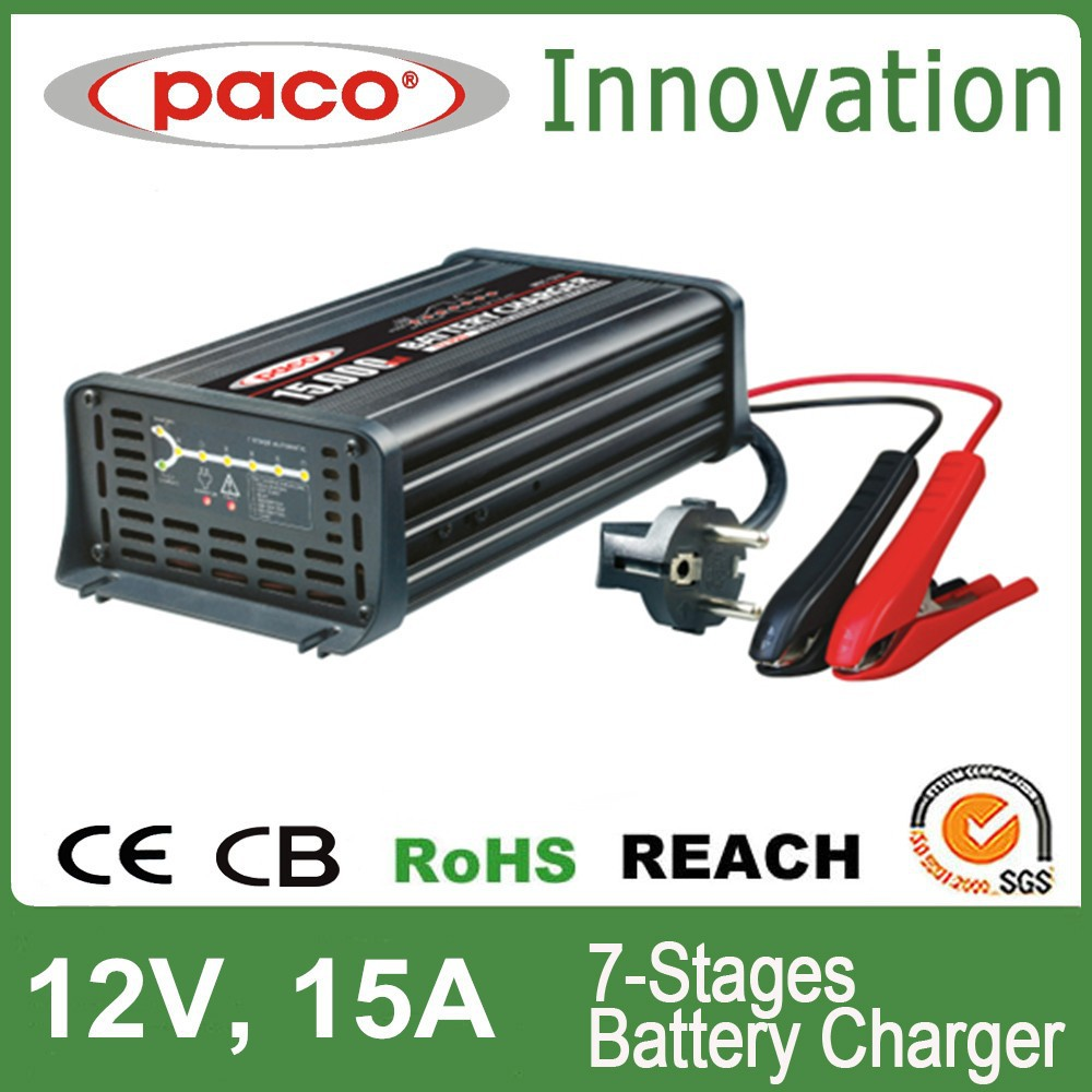 Battery recondition equipment 15A,7 stage automatic charging with CE,CB,RoHS certificate