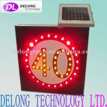 CE and RoHS solar 40 led speed limit board