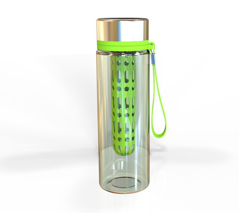 Tritan 700ml sport water bottle with filter and straw, hydration bottle