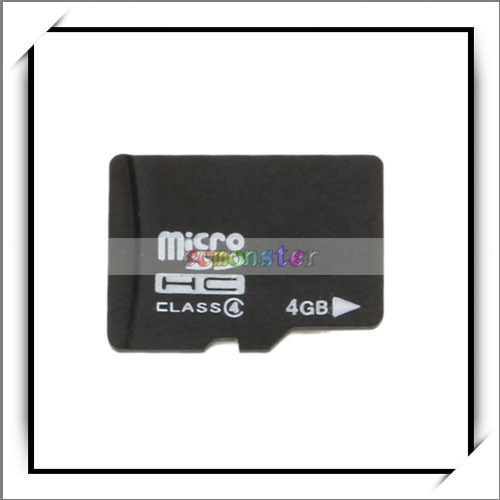 4GB High Capacity TF Memory Card for MP3 / MP4 / Digital Voice Recorders
