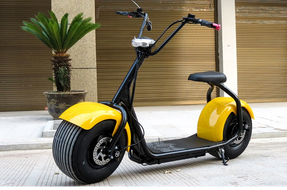 Sunport Best newest 2016 electric citycoco fashion cool Top quality Hot sale 18'' 9.5 wheel electric harley motorcy