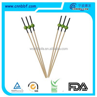 Food grade colorful printing bamboo fruit stick