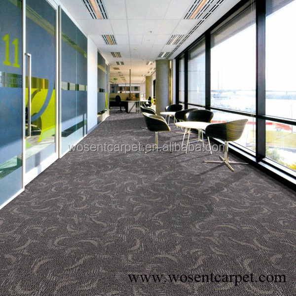 Luxury 5 stair hotel decoration grey floral corridor lobby carpet