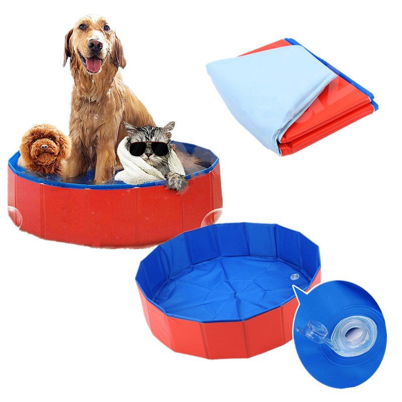 Pet Puppy Swimming Pool Foldable Dog Paddling Pool Bathing Tub