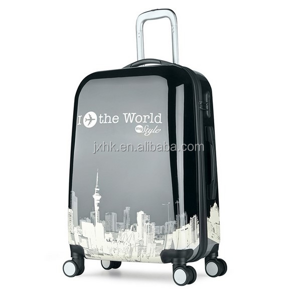 printing design abs pc valises luggage bag trolley case set