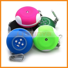 Mini USB Portable Speaker Micro SD TF Bluetooth Wireless Music Player Outdoor Use with Camping Clip