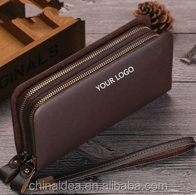 2016 New authentic PU leather men's wallet large male hand bag business zip around wallet men clutch bag phone bag