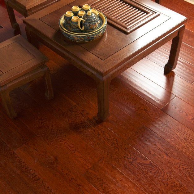 Acrylic Transparent Oak Outdoor Waterproof Three-layer Wood Flooring