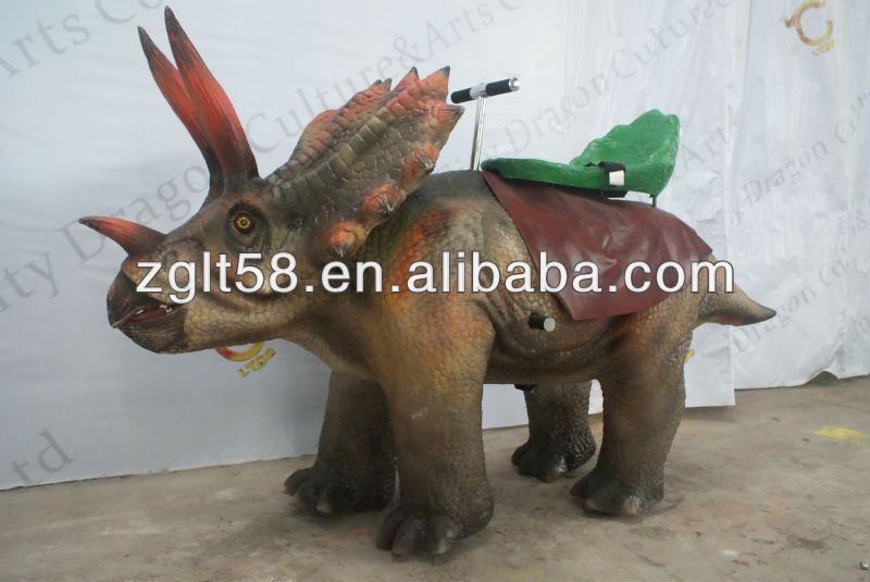 Coin Operated Animatronics Walking Dinosaur Rides