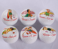 zealand golf club golf balls price romantic pattern two golf balls in box