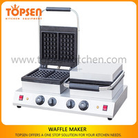 Small Industrial Square Shape 220V Waffle Maker Custom Plate