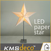 New design Led paper star motif light festival party decoration