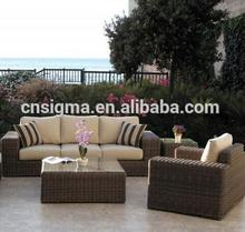 2017 Trade Assurance Large lounge sofa set and aluminum frame rattan outdoor l-shape sofas