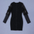 High Quality Black Long Sleeve  Rayon Bandage Evening Party Bodycon Dress