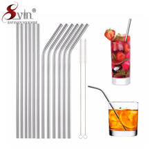 Reusable Drinking Straws Stainless Steel Drinking Straws with Clean Brush