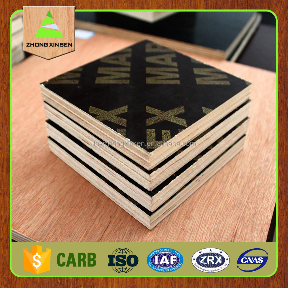 18mm black/brown/phenolic film faced plywood/shuttering plywood/panel/formwork concrete laminated Marine plywood