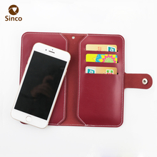 High quality premium PU leather flip cell phone case wallet pouch with card holder