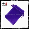 Professional printed logo organza bags for necklace with great price